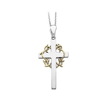 No Greater Love Cross Pendant Necklace in Sterling Silver with Chain