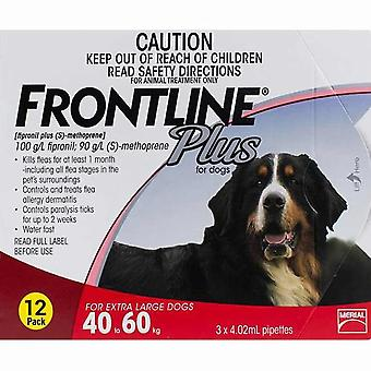 Frontline Plus for Dogs 40-60kg (88-132lbs) - 12 Pipettes