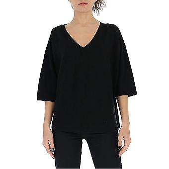 Gentry Portofino D608cog0009 Women's Black Cotton Sweater