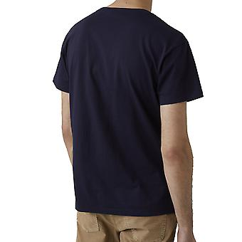 Closed C8570144m20568 Men's Blue Cotton T-shirt