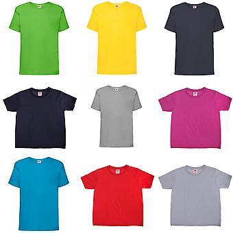 Fruit Of The Loom Kids Sofspun Short Sleeve T-Shirt (Pack of 2)