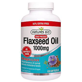 Nature's Aid Flaxseed Oil 1000mg Softgels 135 (16826)