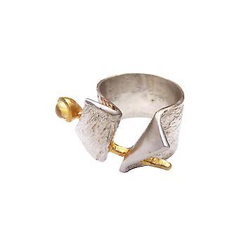 Silver citrien ring