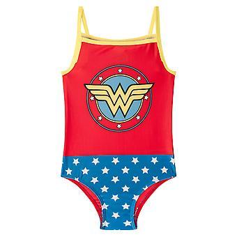 DC Comics Wonder Woman Supergirl Batman offizielle Geschenk Mädchen Badeanzug Kostüm