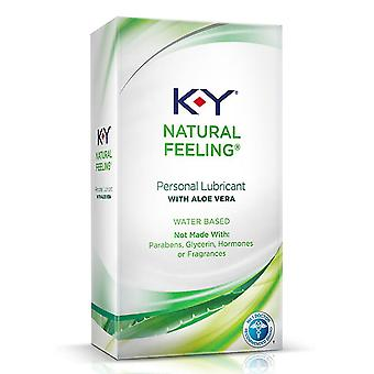 K-y natural feeling with botanical essence lubricant & massage gel, 2 oz