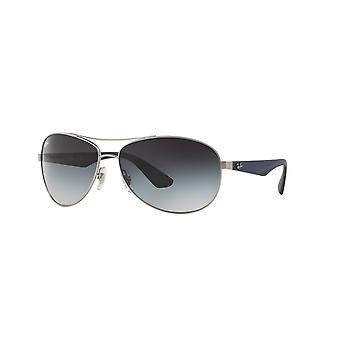راي بان RB3526 019/8G ماتي الفضة / النظارات الشمسية الرمادية