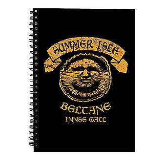 The Wicker Man Summer Isle Beltane May Day Festival Spiral Notebook