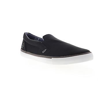 Original Penguin Beckett  Mens Black Canvas Slip On Sneakers Shoes