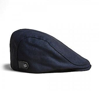 Ted Baker Ramsee Navy Blue Wool Flat Cap