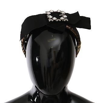 Opaska na głowę Dolce & Gabbana Gold Crystal Żakard Bow Diadem -- SMYK087152
