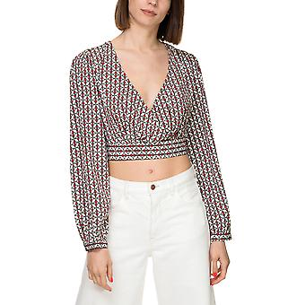 Only Women's Emma Printed Wrap Top