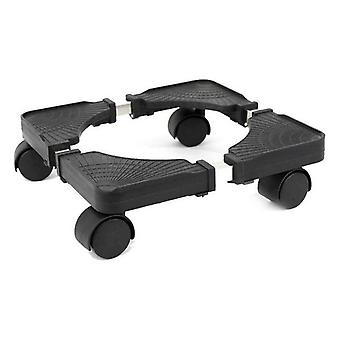 Base with Wheels Bricotech Plastic Black Extendable