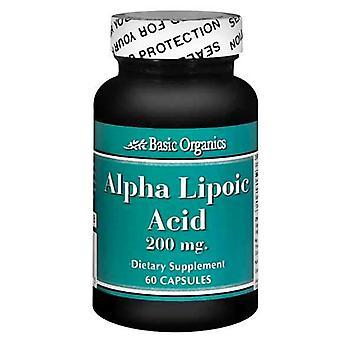 Basic organics alpha lipoic acid, 200 mg, capsules, 60 ea