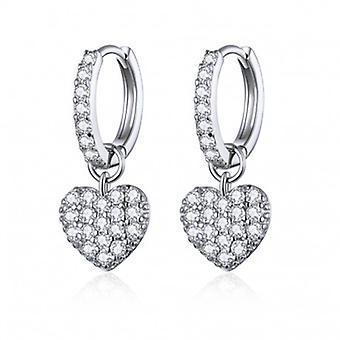 Silver Earrings Hearts - 6557