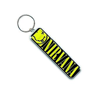 Nirvana Keyring Keychain Smiley face band logo new Official metal