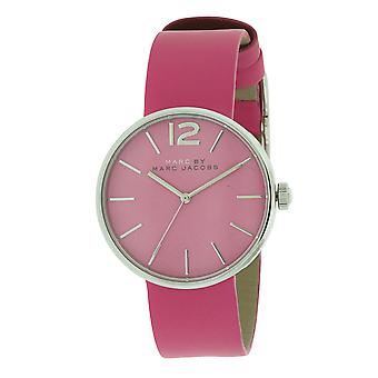Marc Jacobs MBM1363  Female Pink Leather 36MM Quartz Analog Watch