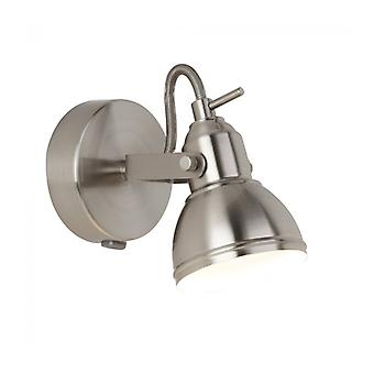 Focus Wall Lamp In Satin Silver