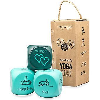 Myga Children's Yoga Dice - Kids Yoga Exercise Fun Foam Dice Set of 3