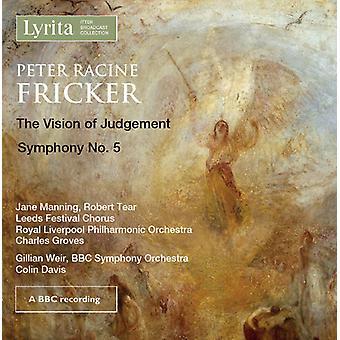 Fricker / Manning / Tear / Leeds Festival Chorus - Peter Racine Fricker: Vision of Judegment Op.29 [CD] USA import