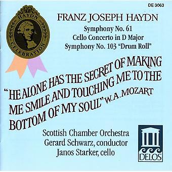 J. Haydn - Franz Joseph Haydn: Symphony No. 61; Cello Concerto in D Major; Symphony No. 103 Drum Roll [CD] USA import