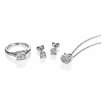Diamonfire Z1145 Ring, Necklace And Earring Set Size M