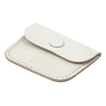 Leer witte ring zakje, ideaal als een trouwring portemonnee