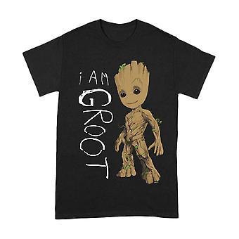 Men's Guardians of the Galaxy Vol.2 I Am Groot Black T-Shirt
