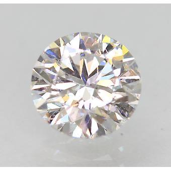 認定済み 1.01 カラット D VVS2 ラウンド ブリリアント エンハンスナチュラル ダイヤモンド 6.42mm 3EX