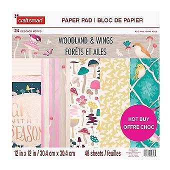 Craft Smith Woodland & Wings 12x12 Inch Paper Pad