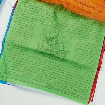 Artificial Silk Tibet Lung Ta Scriptures Banner Flags - Tibetan Buddhist