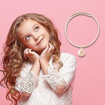 """White Diamond Star Charm Bangle voor kids vergulde zilveren roségouden maat 4.95"""" TJC"""