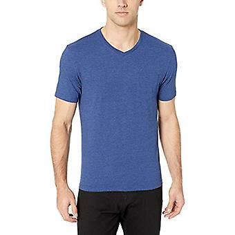 Essentials Men & apos, s 2-Pack Slim-Fit V-Neck Pocket T-shirt, Navy Heather, ...