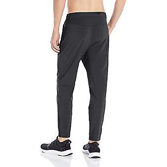 Peak Velocity Men's Woven Athletic-Fit Run Pant (Multiple Inseams), black, Me...