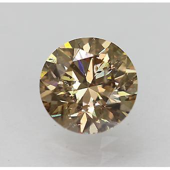 Cert 1.04 قيراط Int Brown VS2 جولة رائعة الطبيعية فضفاضة الماس 6.41m EX CUT