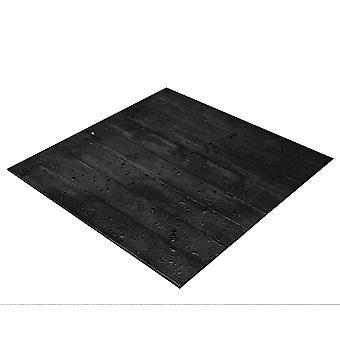 BRESSER Flatlay Achtergrond voor het leggen van foto's 60x60cm houten planken zwart