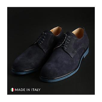 Madrid - Shoes - Lace-up shoes - 604_CAMOSCIO_BLU - Men - navy - EU 44