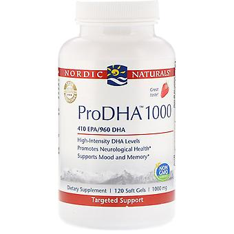 Nordic Naturals, ProDHA 1000, Fraise , 1 000 mg, 120 Gels mous