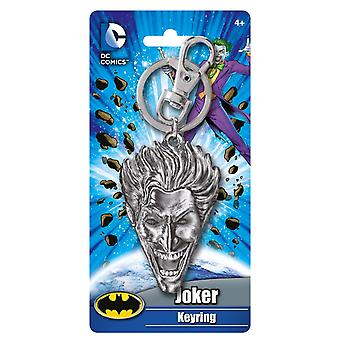 Metal Key Chain - DC Comics - The Joker Head Pewter Keyring 48087