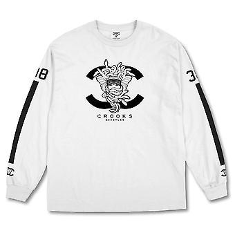 Crooks & Castles No38 Long Sleeve T-shirt White