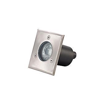 Square Inground Light, Stainless Steel 316L, GU10, IP67