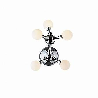 5 Valomolekyyli pieni huuhteluvalo kromi, G4-lamppu