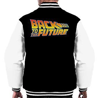 Takaisin tulevaisuuden allekirjoitus logo men's Varsity takki