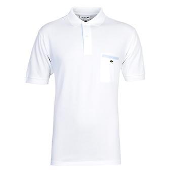 Camisa de Polo Lacoste Branco MC Homme