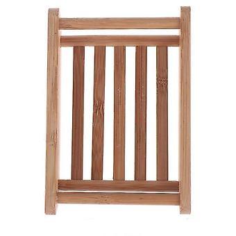 Natuurlijke carbidhouten zeepschaal - houten zeepcontainer, Travel Wood Zeepkist,