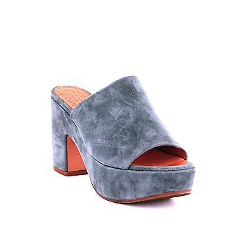 Chie Mihara | Fumie Suede High Heel Platform Slide Sandals