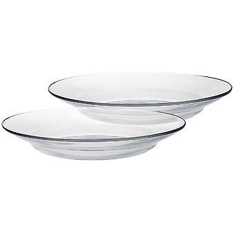 Duralex Lys Glass Soup Plates Rätter - Tempererad, Värmebeständig - 230mm - Förpackning med 12