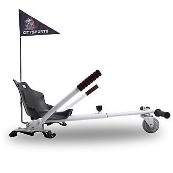 CitySport HoverKart for All Size Hoverboards Go kart with Flag