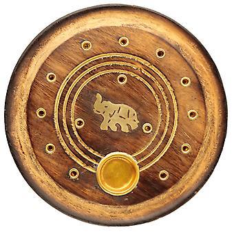 Dekorative Runde Elefant Holz Weihrauch Brenner Ash Catcher X 1 Pack