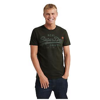 Superdry Vintage Logo Tonal Tape T-Shirt - Surplus Goods Olive
