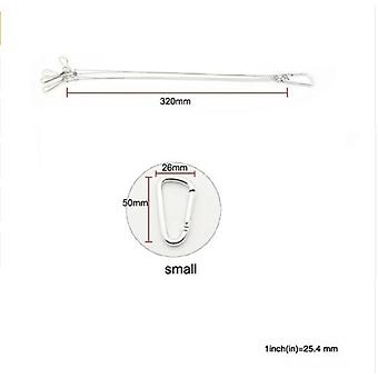 Light Suspension Kit Stainless Steel Lanyard Hook Galvanized Steel Cable Hang Fixture 10 / 15kg 22 / 33lb For Lamp